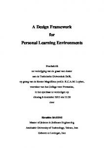 A Design Framework for Personal Learning ...