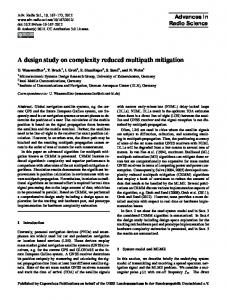 A design study on complexity reduced multipath mitigation