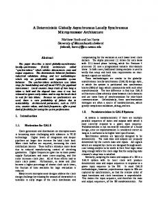 A Deterministic Globally Asynchronous Locally Synchronous ...