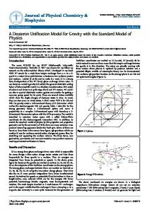 A Deuteron Unification Model for Gravity with the Standard Model of