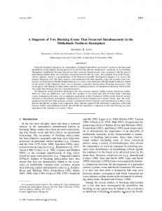 A Diagnosis of Two Blocking Events That Occurred Simultaneously in