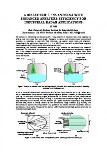 a dielectric lens antenna with enhanced aperture ...
