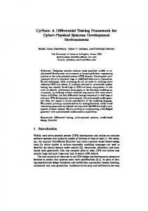 A Differential Testing Framework for Cyber-Physical Systems ... - UTA