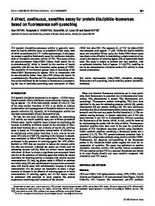A direct, continuous, sensitive assay for protein disulphide-isomerase ...
