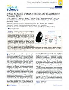 A Direct Mechanism of Ultrafast Intramolecular ... - ACS Publications