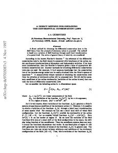 A Direct Method for Obtaining the Differential Conservation Laws