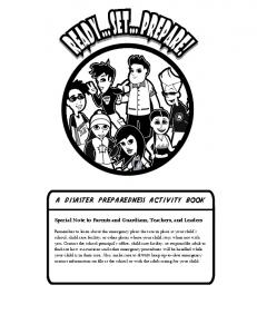 a disaster preparedness activity book