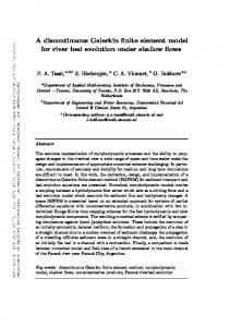 A discontinuous Galerkin finite element model for river bed evolution ...