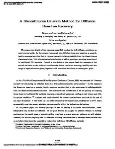 A Discontinuous Galerkin Method for Diffusion Based on Recovery