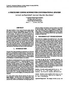 a discourse coding scheme for conversational ... - Semantic Scholar