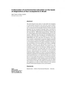 A discussion of environmental education on the basis of ... - SciELO