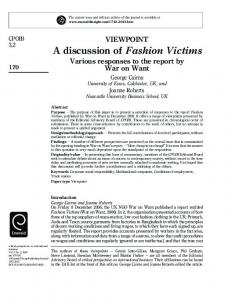 A discussion of Fashion Victims