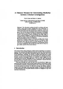 A Distance Measure for Determining Similarity between Criminal ...