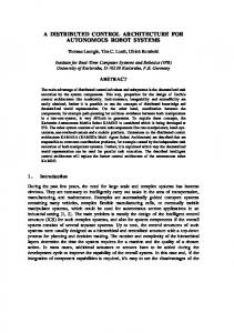 a distributed control architecture for autonomous ... - Semantic Scholar