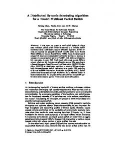 A Distributed Dynamic Scheduling Algorithm for a ... - Springer Link