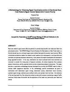 A Distributed Real-Time Network Signal Control ... - Semantic Scholar