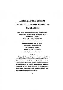 a distributed spatial architecture for bush fire ... - Semantic Scholar