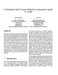 A Distributed Task Planning Method for ... - Semantic Scholar