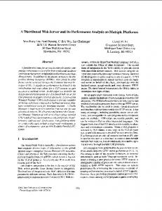 A Distributed Web Server and Its Performance ... - Semantic Scholar
