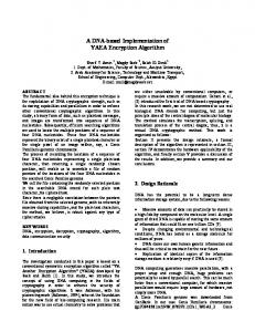 A DNA-based Implementation of YAEA Encryption ... - Magdy Saeb