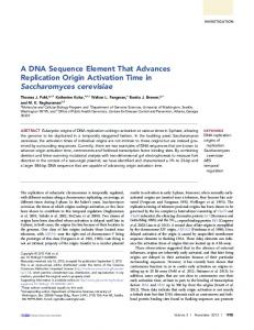 A DNA Sequence Element That Advances Replication ... - CDC stacks