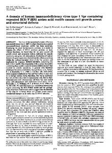 A domain of human immunodeficiency virus type 1 Vpr containing ...