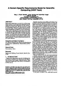 A Domain Specific Requirements Model for ... - Semantic Scholar
