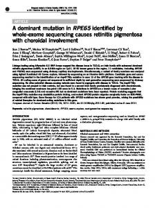 A dominant mutation in RPE65 identified by whole-exome ... - Nature