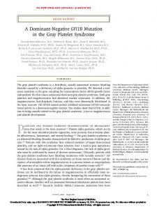 A Dominant-Negative GFI1B Mutation in the Gray ...