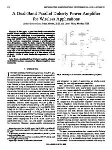 A Dual-Band Parallel Doherty Power Amplifier for ... - IEEE Xplore