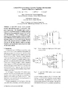 A Dual Gto Current Source Converter Topology With Sinusoidal ... - Core