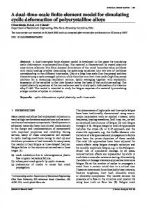 A dual-time-scale finite element model for simulating cyclic ...