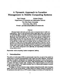 A Dynamic Approach to Location Management in Mobile Computing ...