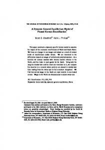 A Dynamic General Equilibrium Model of Phased Korean Reunification