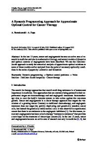 A Dynamic Programming Approach for Approximate ... - Springer Link
