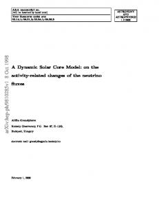 A Dynamic Solar Core Model: on the activity-related changes of the ...