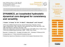 A dynamical core designed for consistency and
