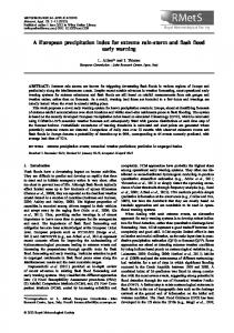 A European precipitation index for extreme ... - Wiley Online Library