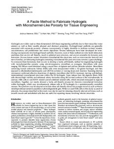 A Facile Method to Fabricate Hydrogels with Microchannel-Like ...