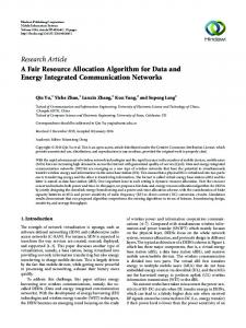 A Fair Resource Allocation Algorithm for Data and Energy Integrated ...