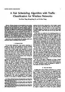 A Fair Scheduling Algorithm with Traffic Classification for ... - CiteSeerX