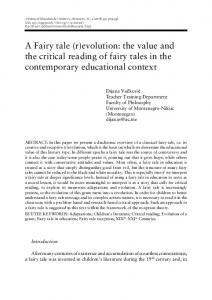 A Fairy tale (r)evolution: the value and the critical