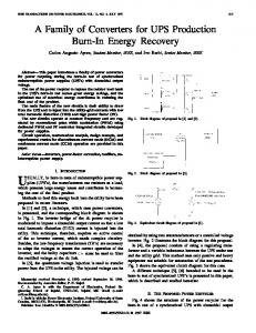 A Family Of Converters For UPS Production Burn-in Energy ... - Ivo Barbi