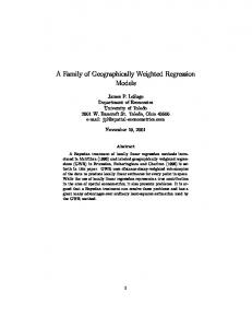 A Family of Geographically Weighted Regression Models - Spatial ...