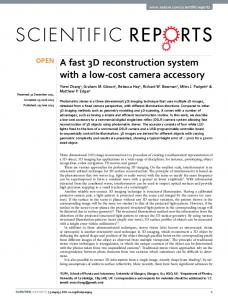 A fast 3D reconstruction system with a low-cost ... - GlasgowHeart