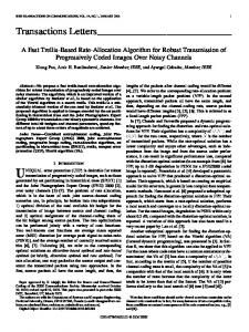 A Fast Trellis-Based Rate-Allocation Algorithm for ... - IEEE Xplore