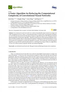 A Faster Algorithm for Reducing the Computational Complexity ... - MDPI