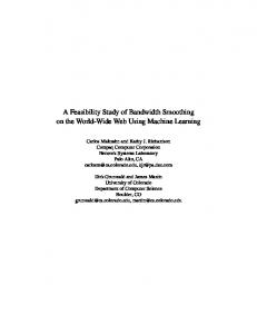 A Feasibility Study of Bandwidth Smoothing on the World ... - CiteSeerX