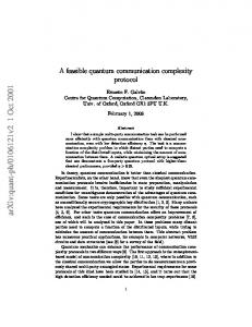 A feasible quantum communication complexity protocol