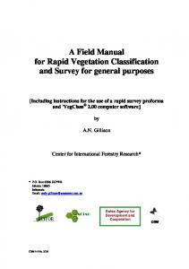 A field manual for rapid vegetation survey and classification ... - CIFOR